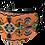 Thumbnail: Orange Folk Pattern Face Mask or Neck Gaiter