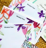 Handpainted, custom, personalized notecard sets