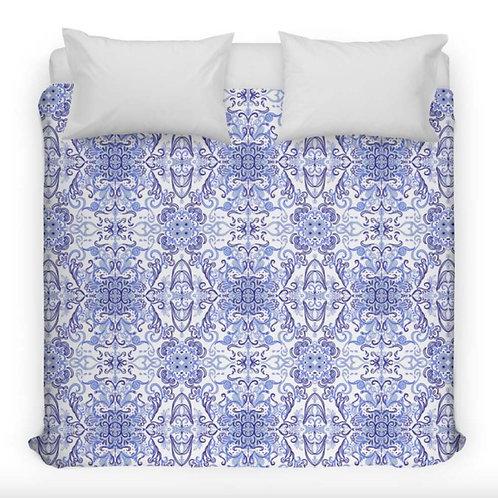 Blue Delft Inspired Duvet Cover