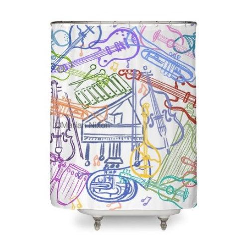 Music Lovers Art Shower Curtain