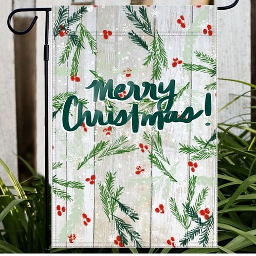 Merry Christmas Winter Garden or House Flag, Yard Decor