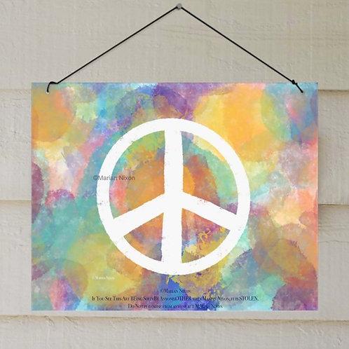 Peace Sign Outdoor Art, Patio Decor