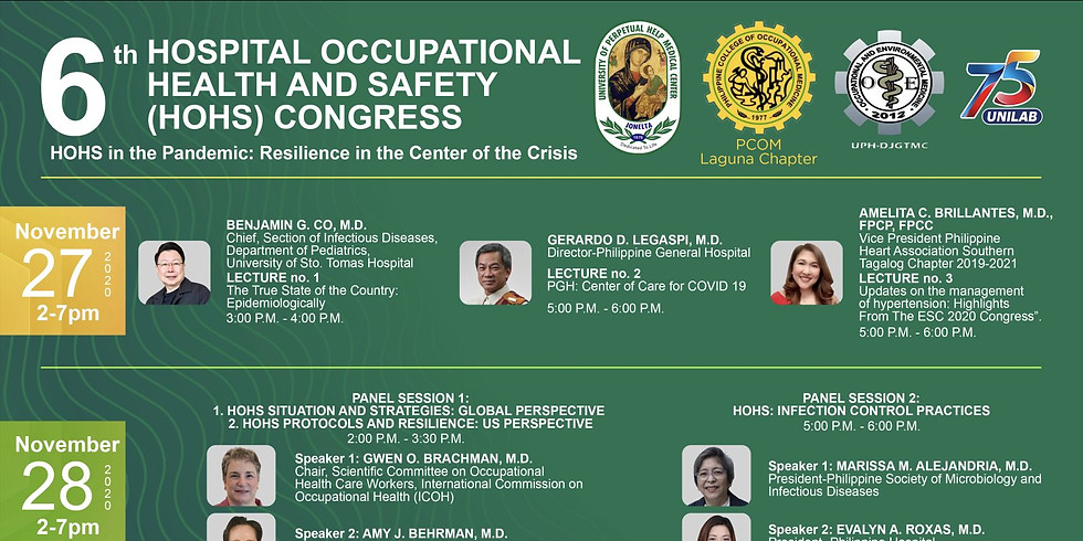 6th Hospital Occupational Health and Safety (HOHS) Congress
