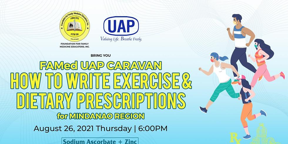 FAMed UAP Caravan: How to write exercises & dietary prescriptions
