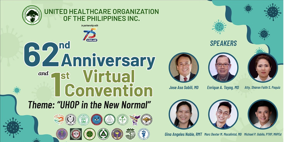 UHOP 62nd Anniversary and 1st Virtual Convention
