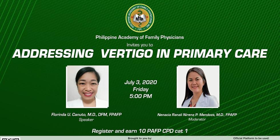 Addressing Vertigo in Primary Care