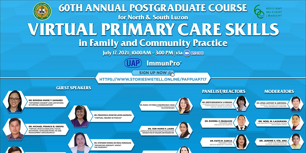 PAFP 60th Annual Postgraduate Course: Virtual Primary Care Skills in Family and Community Practice