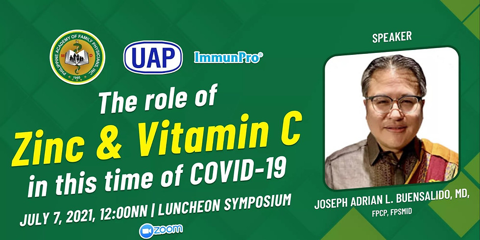 The Role of Zinc @ Vitamin C in this time of COVID-19