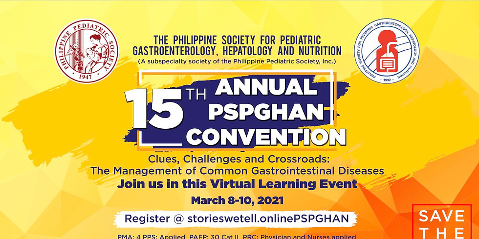 15th Annual PSPGHAN Convention