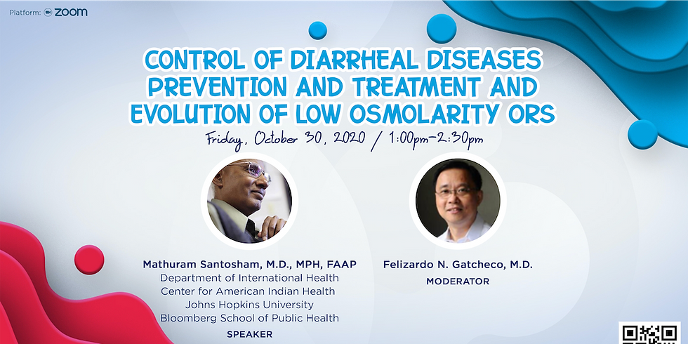 Control of Diarrheal Diseases- Prevention and Treatment and Evolution of Low Osmolarity ORS