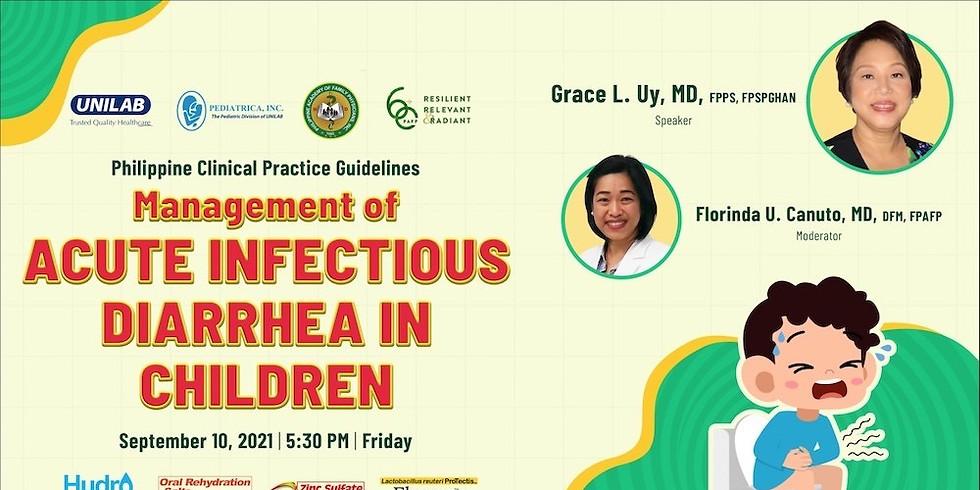 Management of Acute Infectious Diarrhea in Children