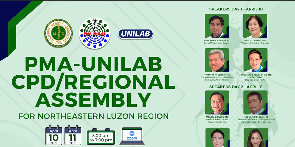 PMA-UNILAB CPD/REGIONAL ASSEMBLY For Northeastern Luzon Region