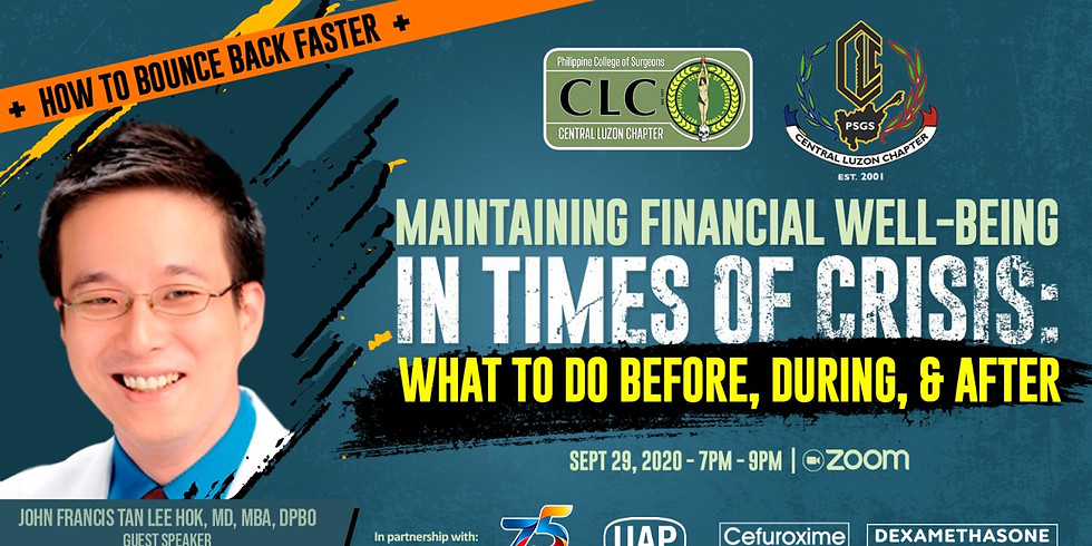 Maintaining Financial Well-Being in Times of Crisis: What to Do Before, During & After