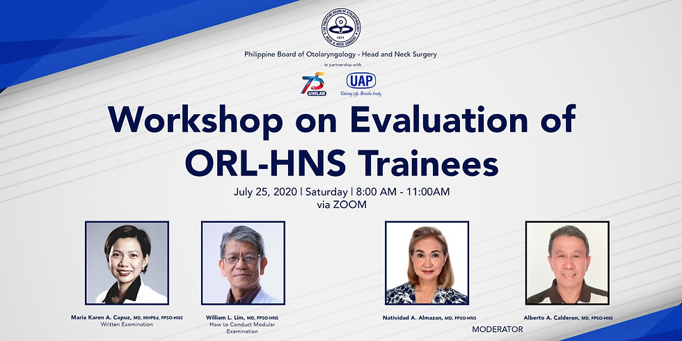 Workshop on Evaluation of ORL-HNS Trainees