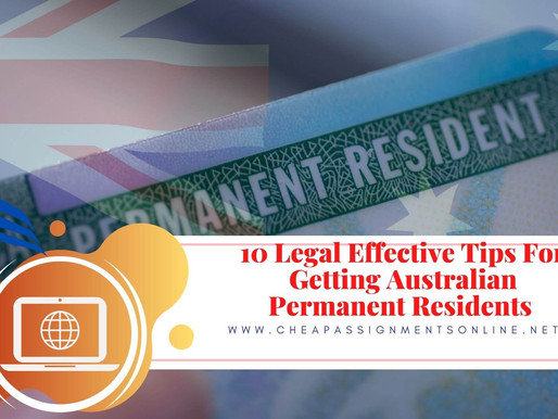 10 Legal Effective Tips For Getting Australian Permanent Residents