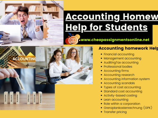 Accounting Homework Help for Students