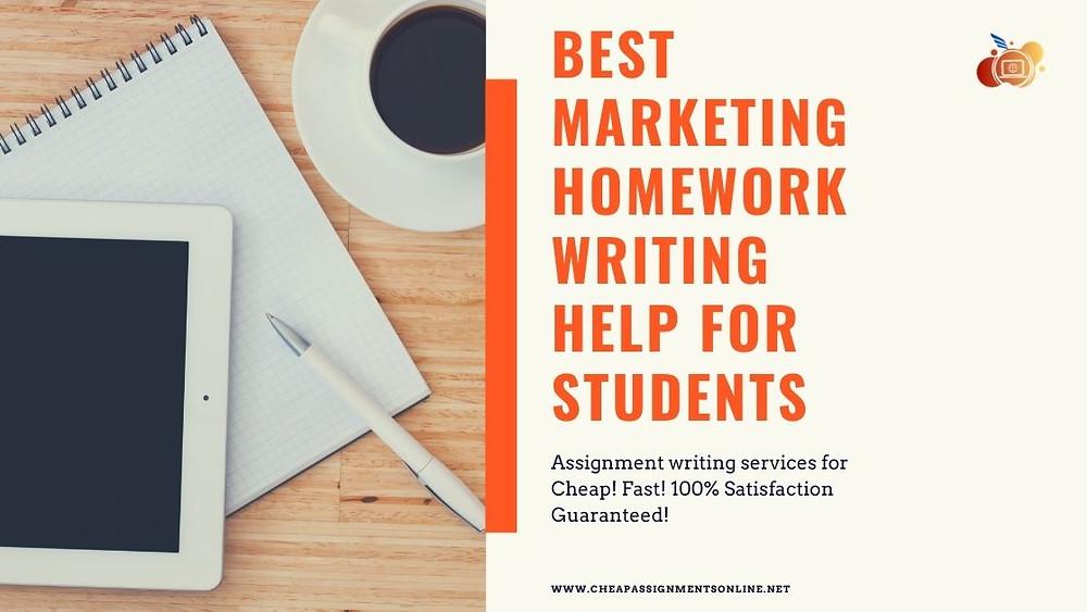 Best Marketing Homework Writing Help for Students
