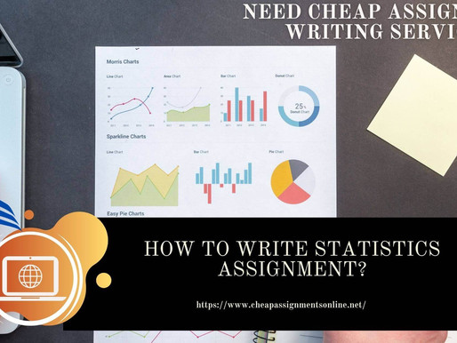 How To Write Statistics Assignment?