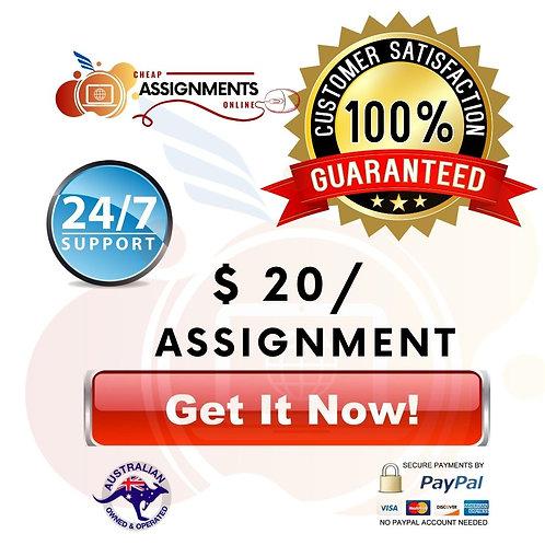 $20 Assignment