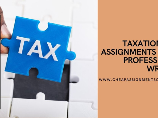 Taxation Law Assignments from Professional Writers