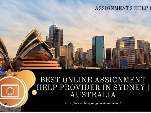 Best Online Assignment Help Provider in Sydney | Australia