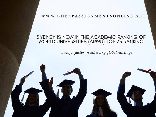 Sydney is now in the Academic Ranking of World Universities (ARWU) top 75 ranking