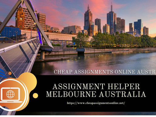 Assignment Helper Melbourne Australia