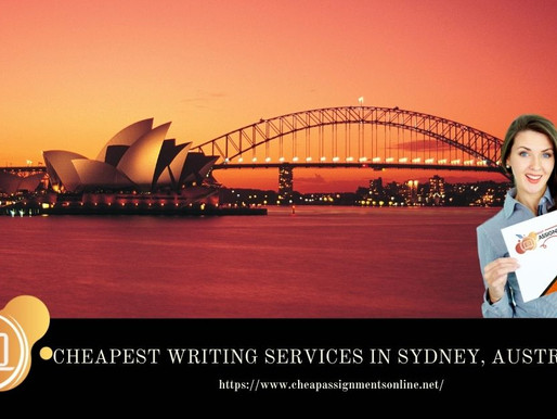 Cheapest Writing Services in Sydney, Australia