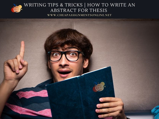 Writing Tips & Tricks | How To Write An Abstract For Thesis