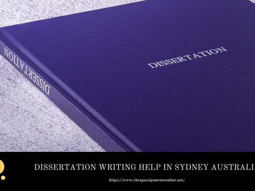 Dissertation Writing Help in Sydney Australia