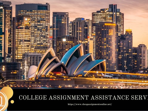 COLLEGE ASSIGNMENT ASSISTANCE SERVICES