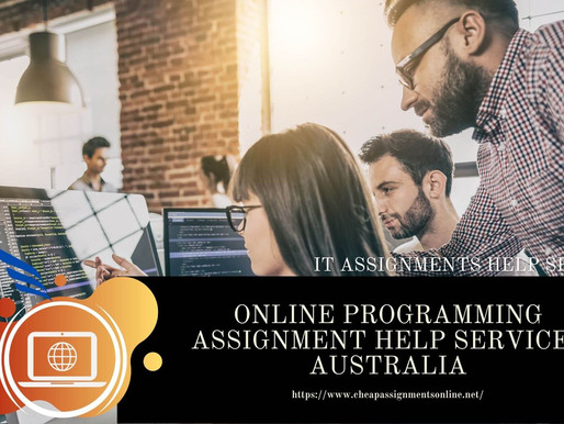 Online Programming Assignment Help Services Australia