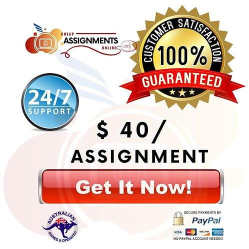 $40 Assignment