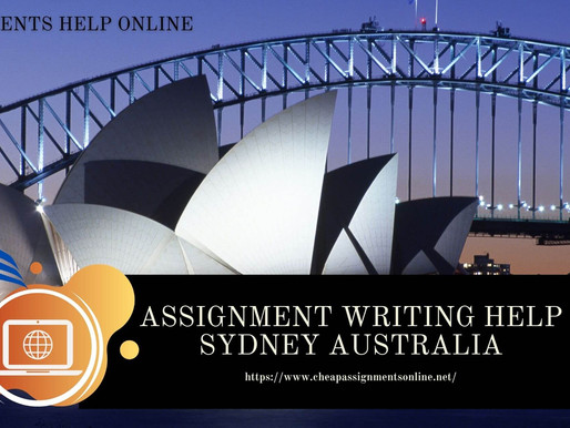 Assignment Writing Help Sydney Australia