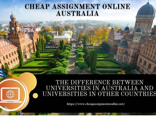 The difference between universities in Australia and universities in other countries