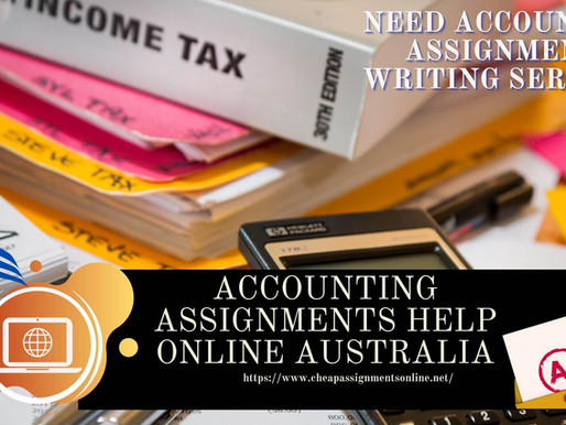 Accounting Assignments Help Online Australia