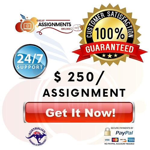 $250 Assignment