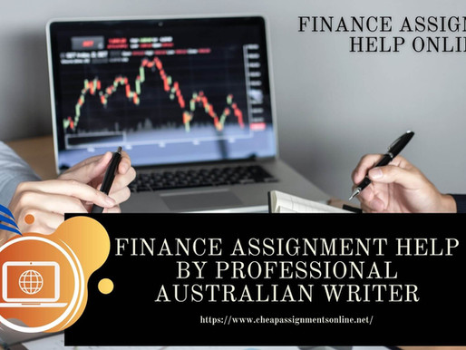 Finance Assignment Help by Professional Australian Writer