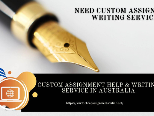 Custom Assignment Help & Writing Service in Australia