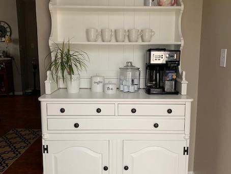 DIY Makeover: Hutch turned Coffee Bar