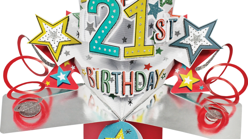 Second Nature Pop Ups - 21st Birthday (Stars)