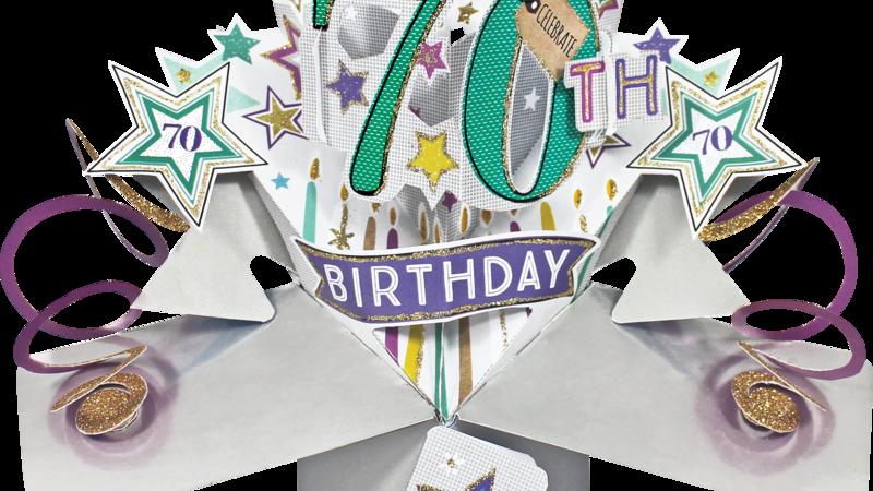 Second Nature Pop Ups -70th Birthday