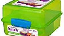 Sistema Lunch Cube, 1.4 L - with contrasting Clips,green