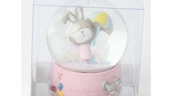 Handsome Baby Boy Snow Globe Christening or new Baby Gift
