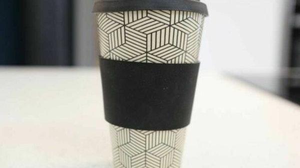 Bamboo Eco Coffee Travel Mug Cup for Hot Drinks - Reusable Bamboo Eco-Mug