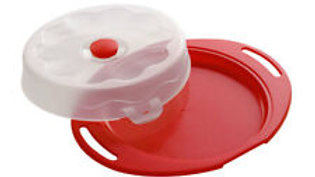 Premier 22cm Cake Storer & Carrier Box Red Storage Container with Clip Top Lid