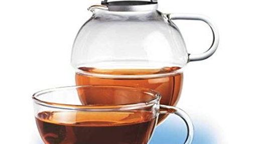 RANDWYCK GLASS TEAPOT AND CUP