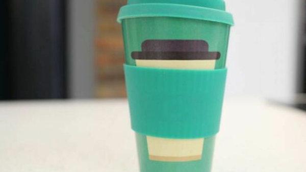 Bamboo Eco Coffee Travel Mug Cup for Hot Drinks - Reusable Bamboo Eco-Mu