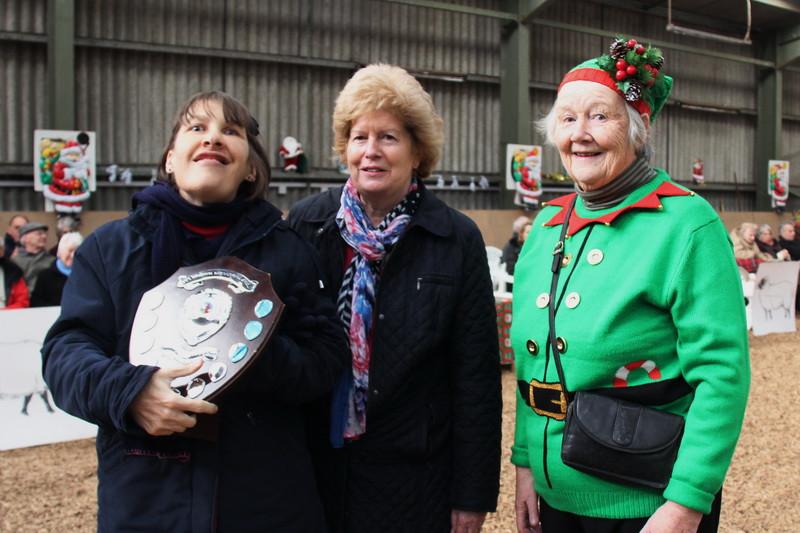 Sue Gillard receiving Most Improved Rider Shield.JPG
