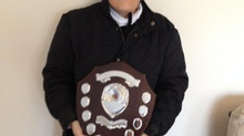Sue  with The Eppy Brown Memorial Shield for Personal Progress
